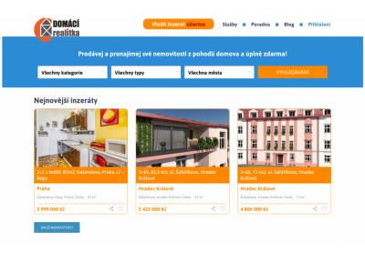 Domaci realitka wordpress web app